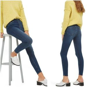 Topshop Moto Jamie High Rise Ankle Skinny Jeans 30